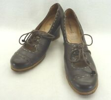 Hush Puppies Natural/Recycled Mary Jane Oxford Brown Leather Womens 8.5 M EU 40