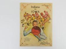 Indiana Hoosiers VS Iowa Hawkeyes College Football Program Oct 12th, 1963