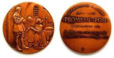 Medaglia Alessandro Manzoni – Promessi Sposi Capitolo XXI Bronzo cm 5,5
