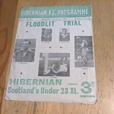 More details for 1955/56 hibs hibernian fc v scotland under 23 xi football. programme