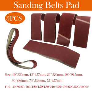 SANDING BELTS 10x330 13x457 20x520 100x915 50x686 75x533 75x457mm P40-1000 GRITS