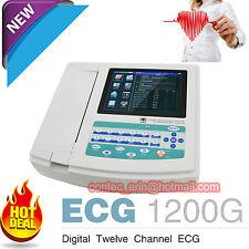 Digital 12 ch 12-LEAD ECG EKG Machine electrocardiograph PC SOFTWARE USB CONTEC