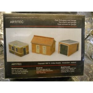 ** Artitec 10116 2 Brick Sheds and Garage Kit 1:87 H0 Scale