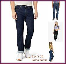 levis 501 vintage jeans levi's uomo donna nuovi vita alta 28 w29 w30 w31 w32 w33