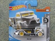 Hot wheels 2018 #089/365 MIG PLATE-FORME chrome avec jaune roues super chromes
