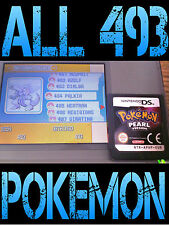 GENUINE POKEMON PEARL WITH ALL 493 SHINY UNLOCKED ALL ITEMS NINTENDO DS DIAMOND