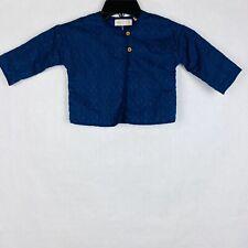 Zara Baby Girl Size 12-18 Months Textured Blue 2-Button Jacket