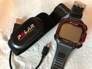 POLAR RC3 GPS Sport-Uhr mit Brustgurt und Ladekabel, wie neu!