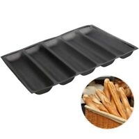 Silicone Pan - Non-Stick Perforated Fench Bread Pan Forms , Hot Dog Molds , B w0