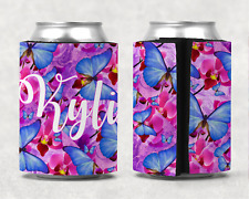 Personalised Butterfly Stubby Holder Can Cooler