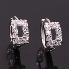 Earrings White Gold Diamond Hoops Classic Summer Gift Holiday Bride