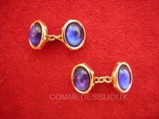 """Boutons de Manchette """"Ovale"""" Bleu Nuit Chemise Cufflinks - Bijoux pur Collection"""