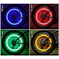 4x SUV Car Wheel Tire LED Light Air Valve Stem Screw Caps Cover Lamp Accessories