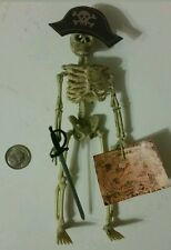 Dollhouse miniature skeleton pirate with map  1/12  Halloween decoration