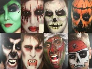 Halloween face paint skeleton vampire Zombie