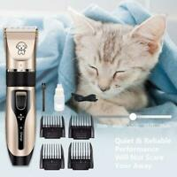 Electric Animal Pet Dog Cat Hair Trimmer Shaver Razor Grooming Quiet Clipper New