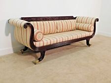 Baker Furniture Company Historic Charleston Mahogany Brass Claw Feet Sofa