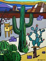 Southwest Cactus - 18 x 24 Original Acrylic & Canvas Painting - Joyce Taniguchi