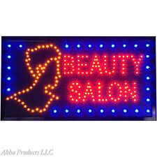 "24x13"" BEAUTY Hair Dresser SALON Nails SPA Color Perm LED Open Store Sign neon"