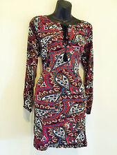"""""""KIRA"""" BEAUTIFUL LADIES BOHO INDI SIZE 10-12 STRETCH COTTON MULTI TUNIC DRESS"""