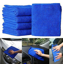 New Practical 5Pcs Blue Soft Absorbent Wash Cloth Car Auto Care Microfiber Clean