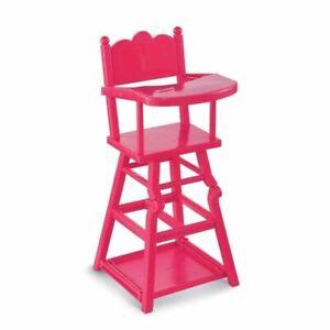 chaise haute neuve corolle poupon cerise  36 a 42