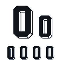 6pcs Set Black Vinyl Jersey Number Heat Transfer Jersey Football Sports Shirt
