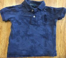 Polo By Ralph Lauren Size 12 Months Navy Blue Short Sleeve Polo Shirt -EUC