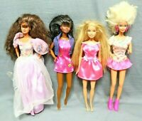 BARBIE DOLLS with clothes vintage lot of 4 good condition 1966 and up
