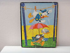 vintage 1961 Walt Disney tray puzzle with Donald Duck & Ludwig Von Drake