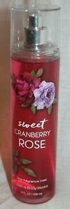 Bath & Body Works Sweet Cranberry Rose Fine Fragrance Mist 8 fl oz NEW