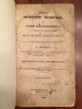 V. RARE 1834 Gunn's Domestic Medicine, Madisonville TN imprint, TENNESSEE Rarity