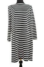 NWT $210 Broome Street Kate Spade Black White Stripe Everyday Shift Dress Large