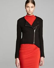 HELMUT FOR HELMUT LANG BLACK GALA KNIT DOUBLE JACKET S