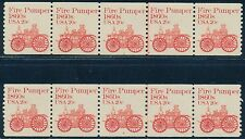 #1908 (2) STRIPS OF 5 WITH PLATE #s 7 & 8 -- XF NH -- CV $350.00 BQ8187