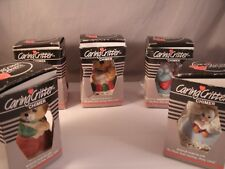 Lot of 5 Assorted Adorable Jasco Caring Critter Chimers Bisque Porcelain