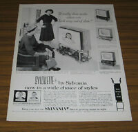 1958 Vintage Ad Sylouette by Sylvania TV Television 4 Models Shown