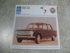 CARTE FICHE FIAT 124
