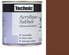 PEINTURE ACRYLIQUE TECHNIC SATIN 2.5 L CHOCOLAT MARRON lessivable sans odeur