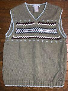 Janie and Jack Boys Fair Isle Cotton Sweater Vest Size 6