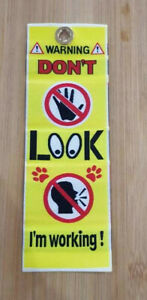 NEW WOVEN Service Dog Warning clip on