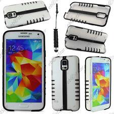 Coque Housse Etui TPU Demi Pliable Noir Samsung Galaxy S5 et S5 New+ Mini Stylet