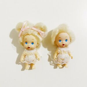 2 x Baby Dolls Figures 2.5in Small Toys Figures Lot