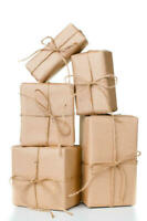 kraft packaging wrap sheets brown paper natural 100% gift craft parcel & tapes