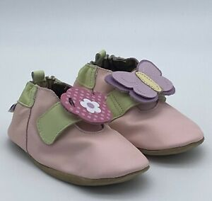 Robeez Soft Soles In The Garden Pink - 3 Styles in 1 - Baby Shoes 12-18 Months