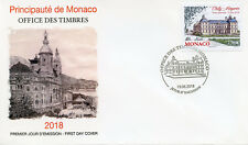 Monaco 2018 FDC Chilly-Mazarin Grimaldi Strongholds 1v Cover Architecture Stamps