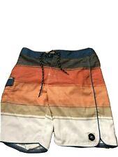 "RipCurl Mens 30"" Waist Swim Trunks Beach Surf Board Shorts MSRP~$50 Coral Orange"