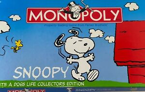 SNOOPY IT'S A DOG'S LIFE Collectors Edition Monopoly Used  Rare