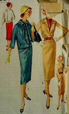 Vtg 1950s Versatile Dress Jumper Jacket  Vestee Simplicity 1925 Size 13 Bust 33