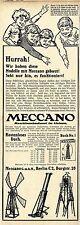 Construction mécanique Art en petit Meccano G.m.b.H. Berlin C. historique annonce 1913